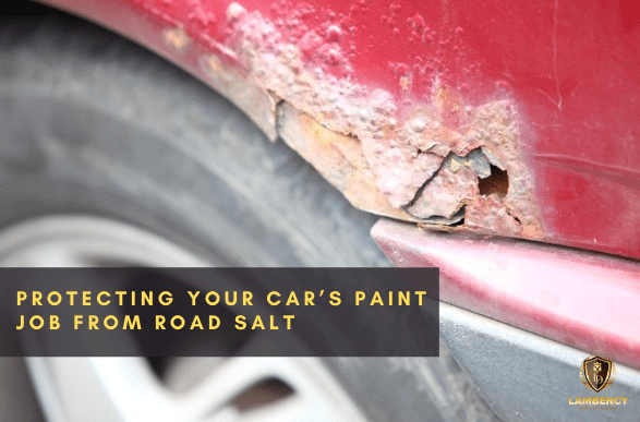 Car paint damaged by road salt | Lambency Detailing
